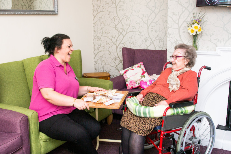 Care Home Jobs - Working with residents 1-2-1